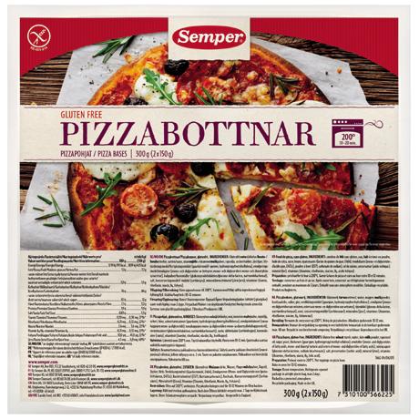 Semper Gluteenittomat Pizzapohjat 2x150g