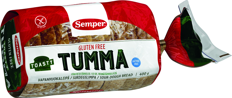 Semper Gluteeniton Toasty Tumma 400g