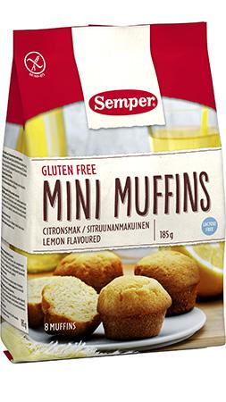 Semper Gluteenittomat Sitruunanmakuiset Minimuffinssit 180 g