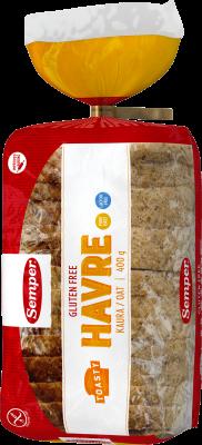 Semper Gluteeniton Toasty puhdas kaura 400g