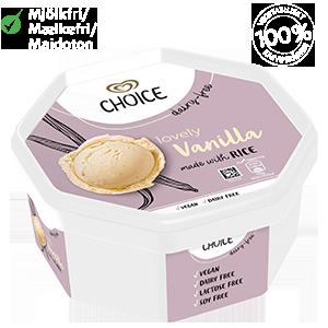 Choice Lovely Vanilla 750ml riisijäätelö