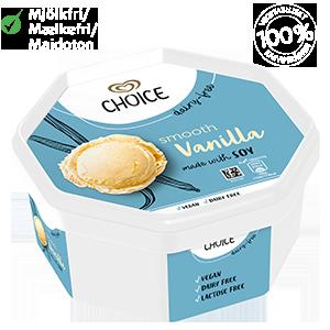 Choice Smooth Vanilla 750ml soijajäätelö