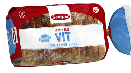 Semper Gluteeniton Toasty vaalea 400g