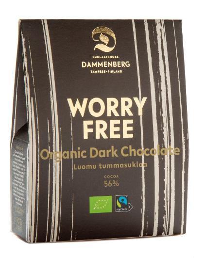 Dammenberg Worry free tummasuklaanappi 56%