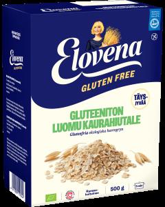 Elovena Gluteeniton Luomu Täysjyväkaurahiutale