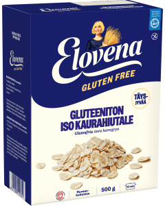 Elovena Gluteeniton Iso Täysjyväkaurahiutale