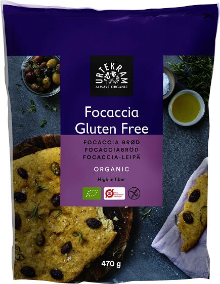 Urtekram Focaccia-leipä jauhoseos 470 g, luomu