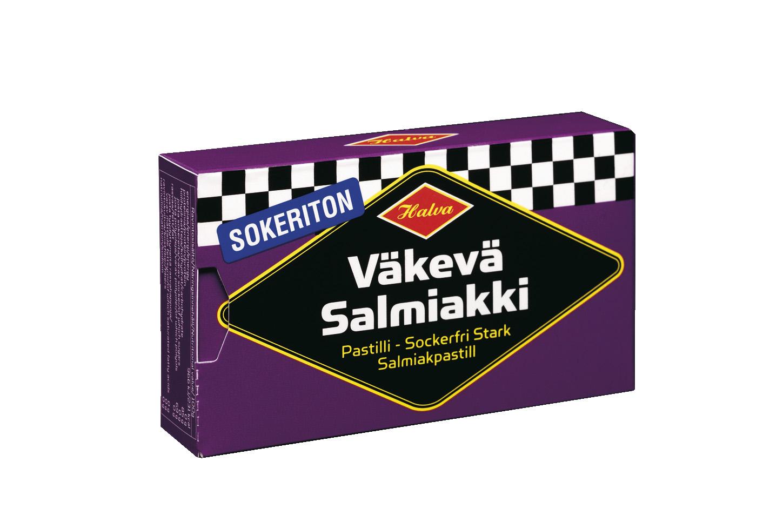 Halva Sokeriton väkevä salmiakki 34g