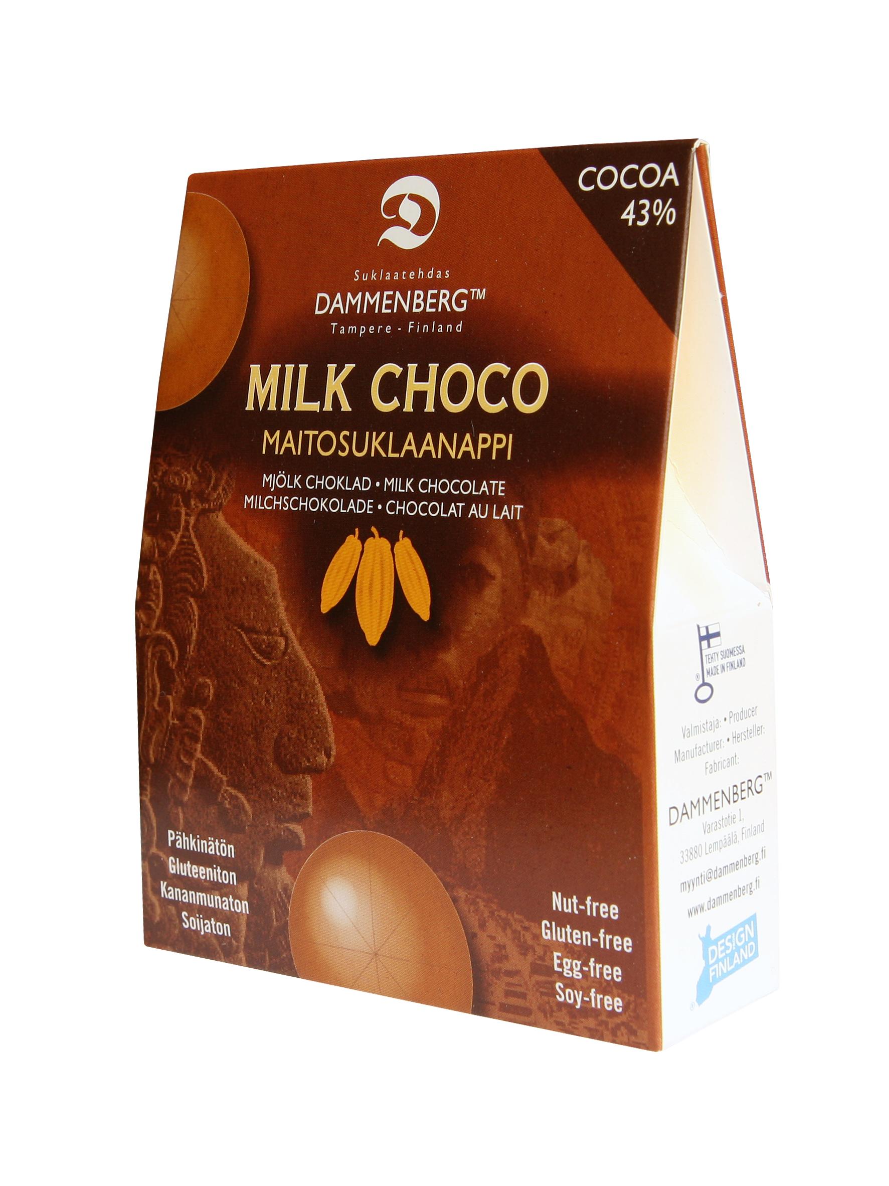 90g Soijaton maitosuklaanappi 43 %