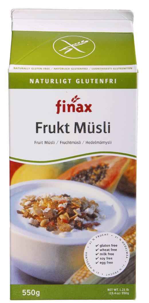 Finax Gluteeniton Hedelmämysli